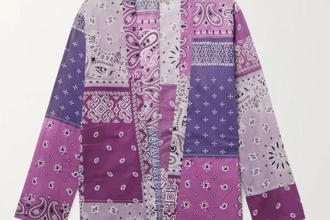 Kakashi Patchwork Bandana Shirt