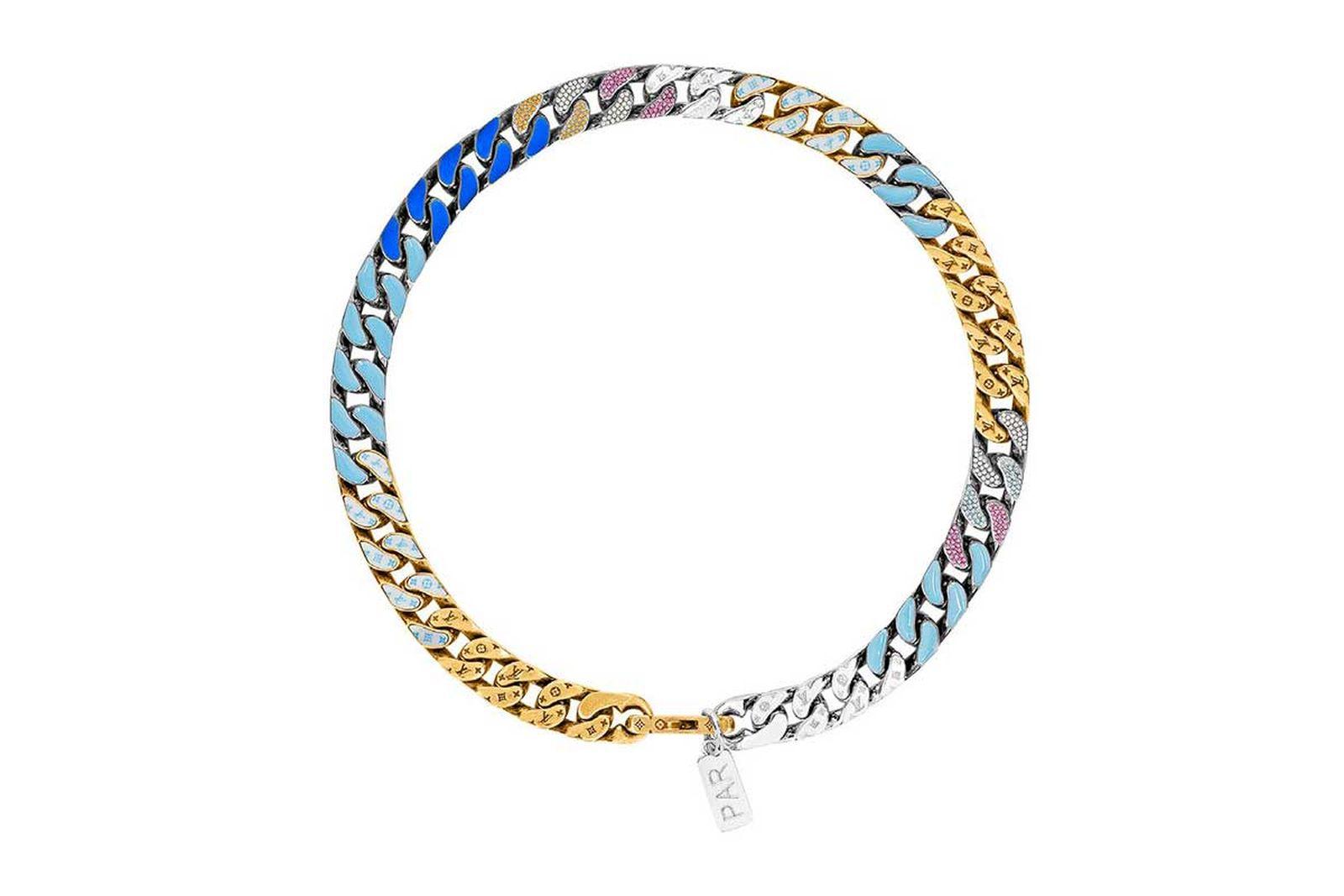 louis vuitton lv chain link neckalces (1)