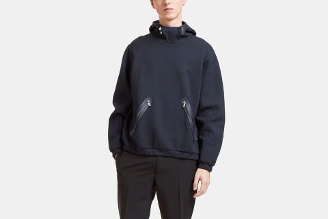 Split Hooded Sweater