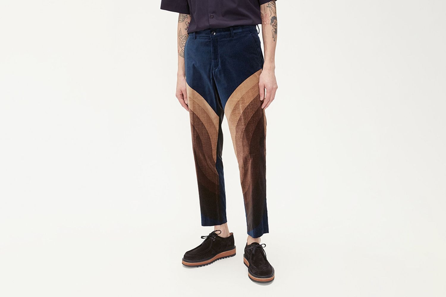 Priddy Short Velvet Trouser