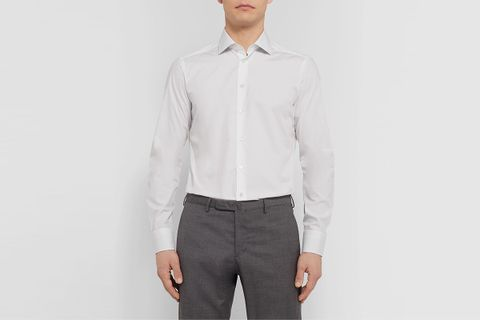 Slim-Fit End-On-End Cotton Shirt