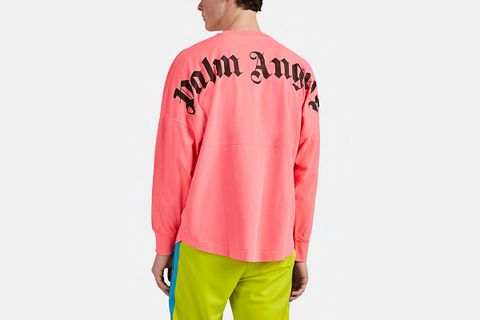 Logo Cotton Oversized Long-Sleeve T-Shirt