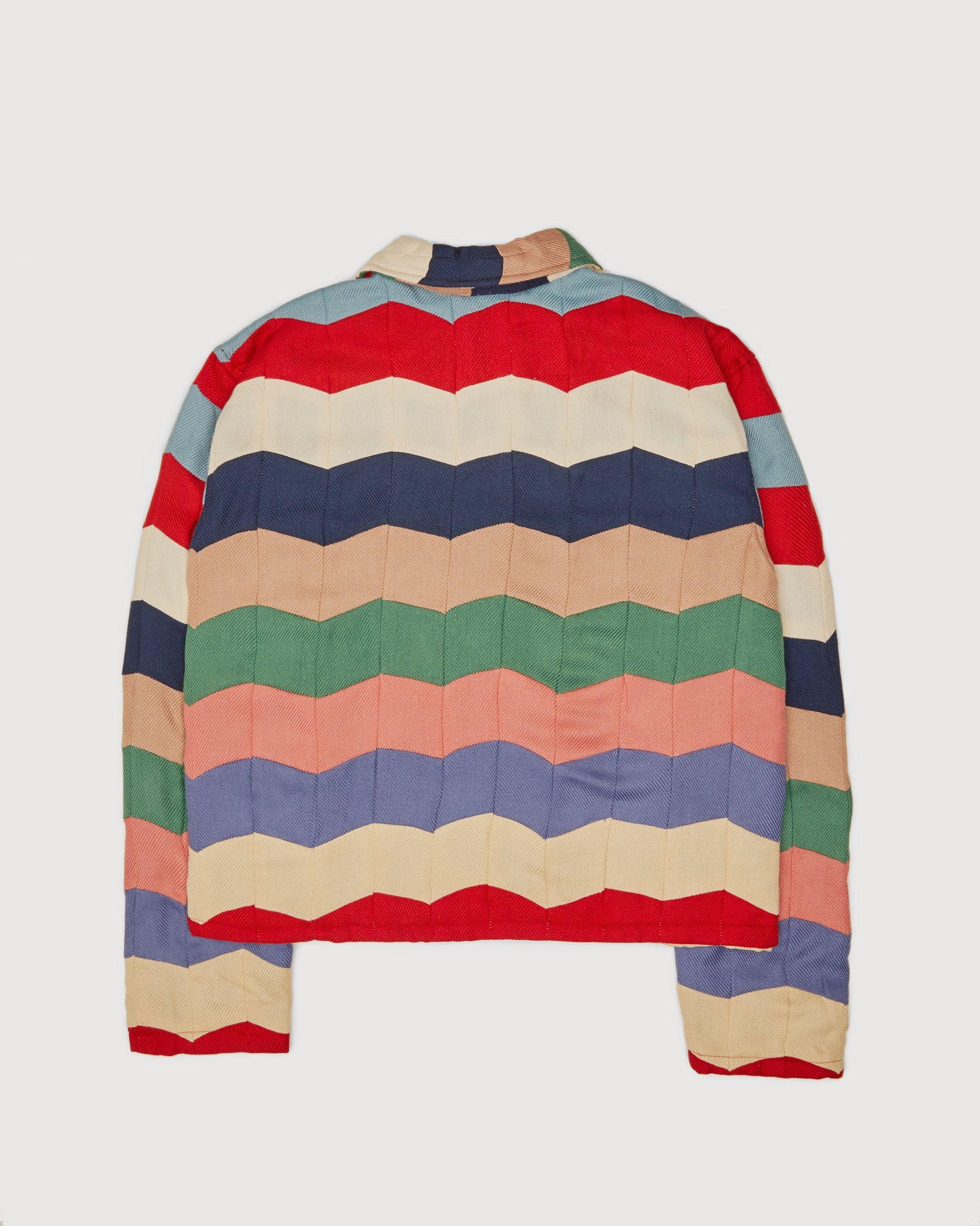 BODE - Chevron Quilt Zip Pullover Multi - Image 2