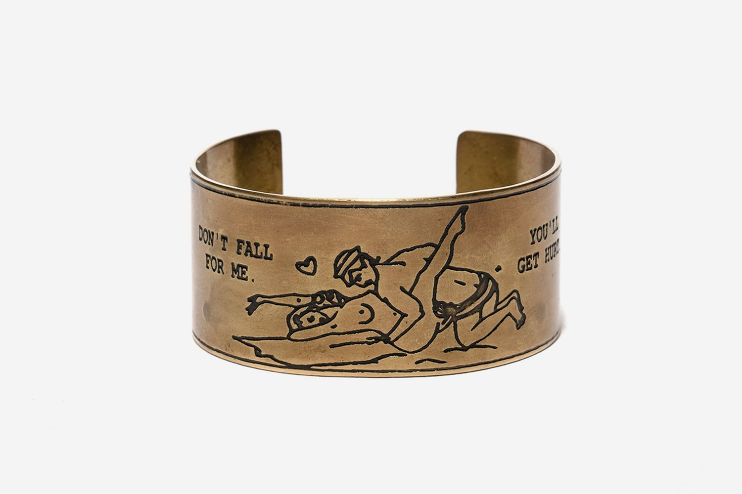 Brass Souvenir Bangle Pin Up Girl