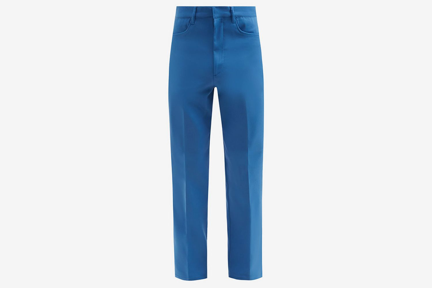 French Cotton-Blend Straight-Leg Trousers