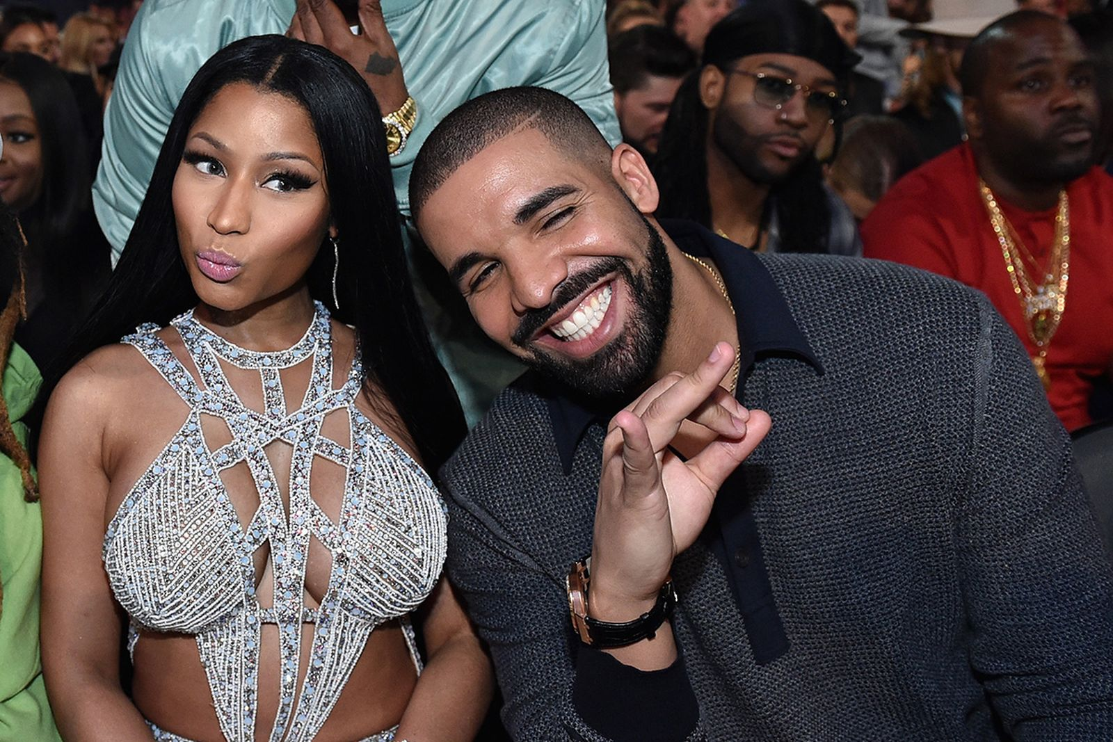 Nicki Minaj and Drake attend the 2017 Billboard Music Awards