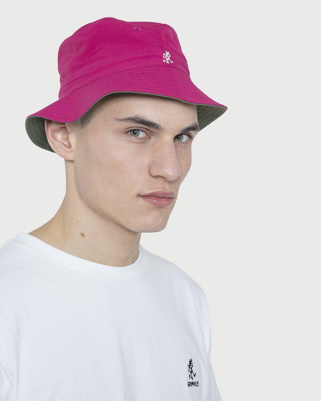 Gramicci -  Kids Shell Reversible Hat Olive/Raspberry - Image 2