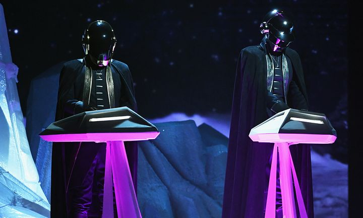 Daft Punk performing