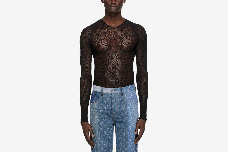 Moon Fishnet Long Sleeve T-Shirt