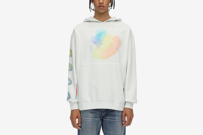 Printed Cotton Jersey Sweatshirt Hoodie