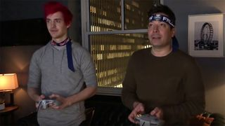 ninja jimmy fallon play retro video games