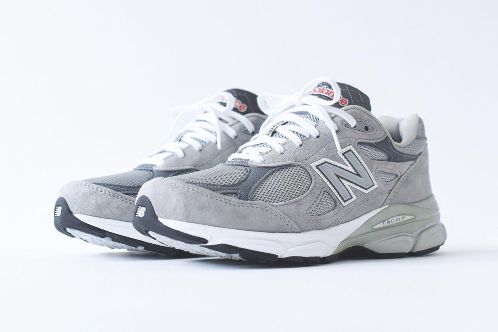 new balance 990v3 grey white release date price kith ronnie fieg