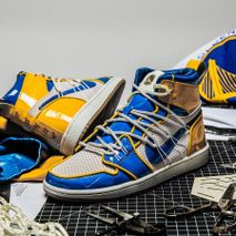 "cb0711c6161de0 Shoe Surgeon Nike Air Jordan 1 ""Golden State Warriors"
