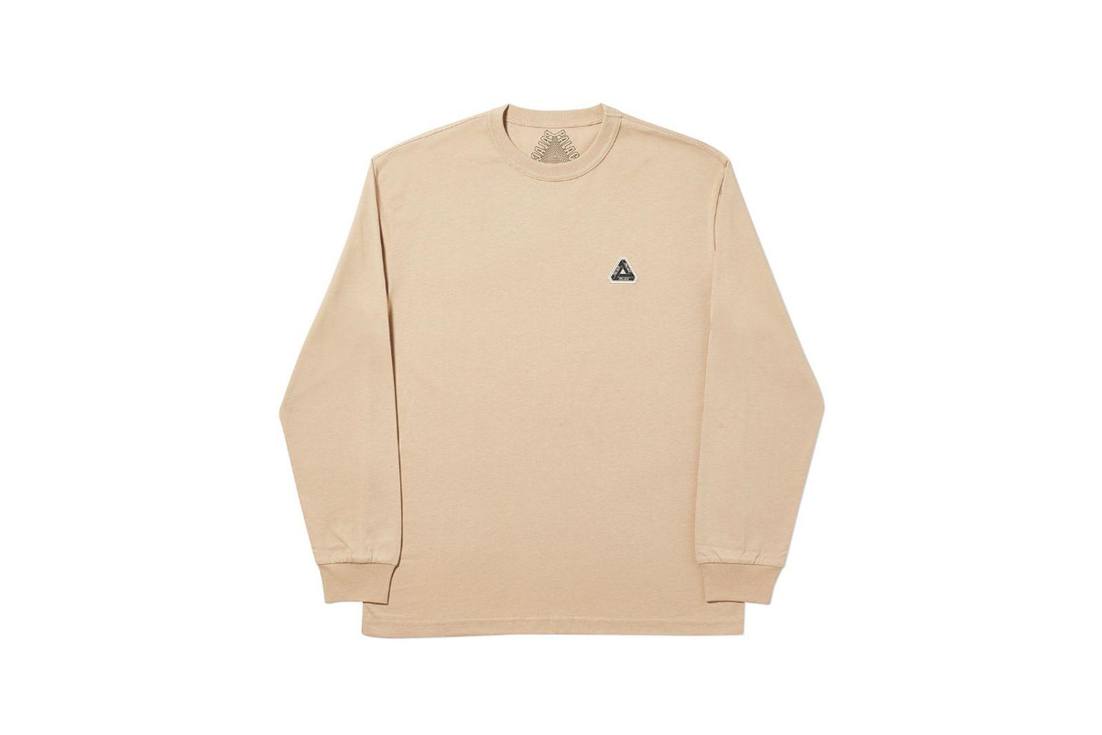 Palace 2019 Autumn Longsleeve T Shirt sesame