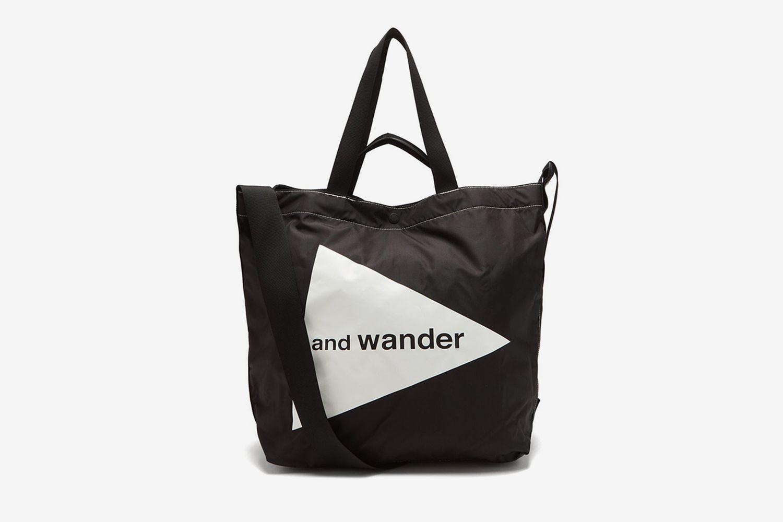 Cordura Logo-Print Tote Bag