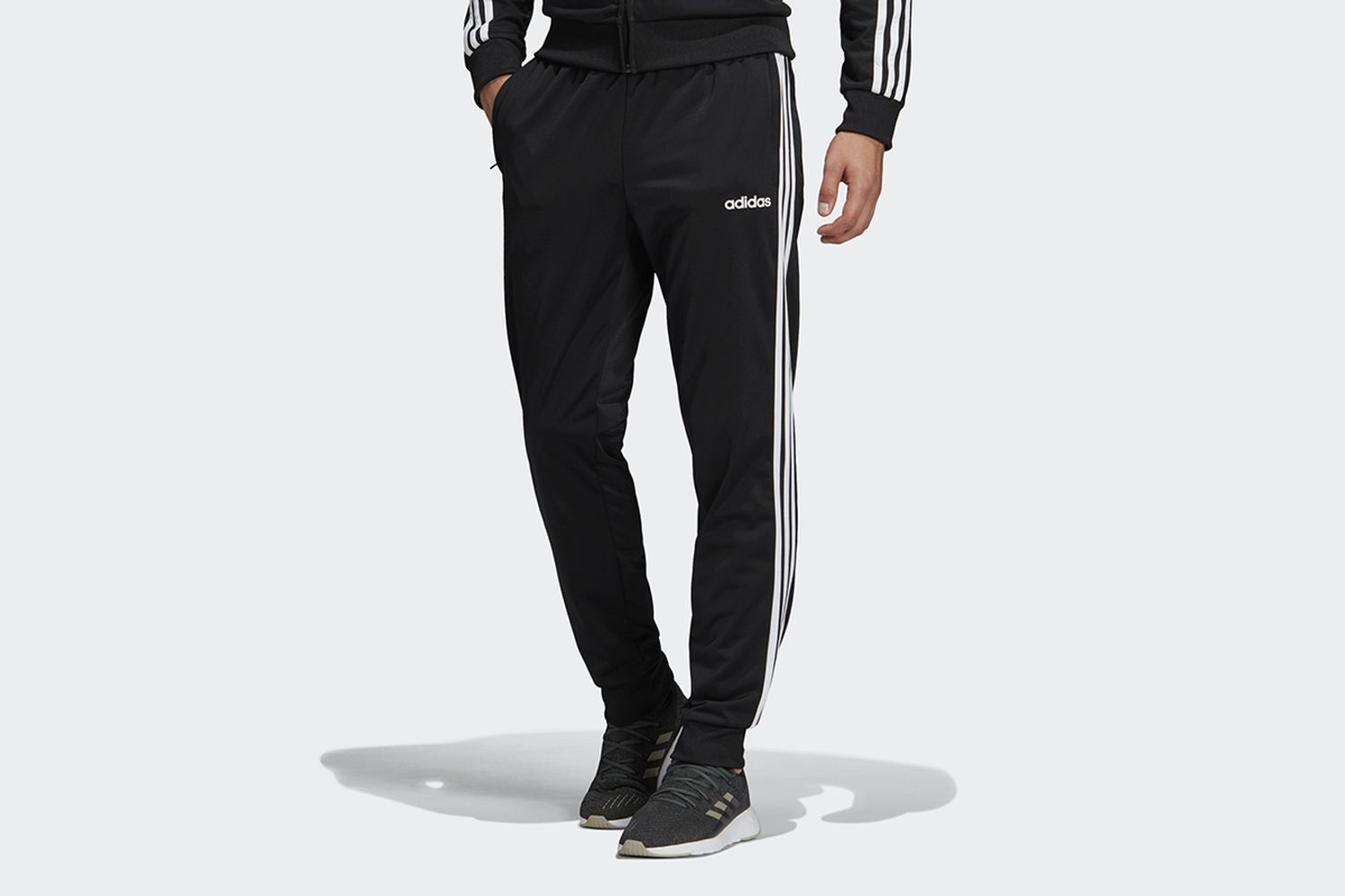 Essentials 3-Stripes Tapered Tricot Pants