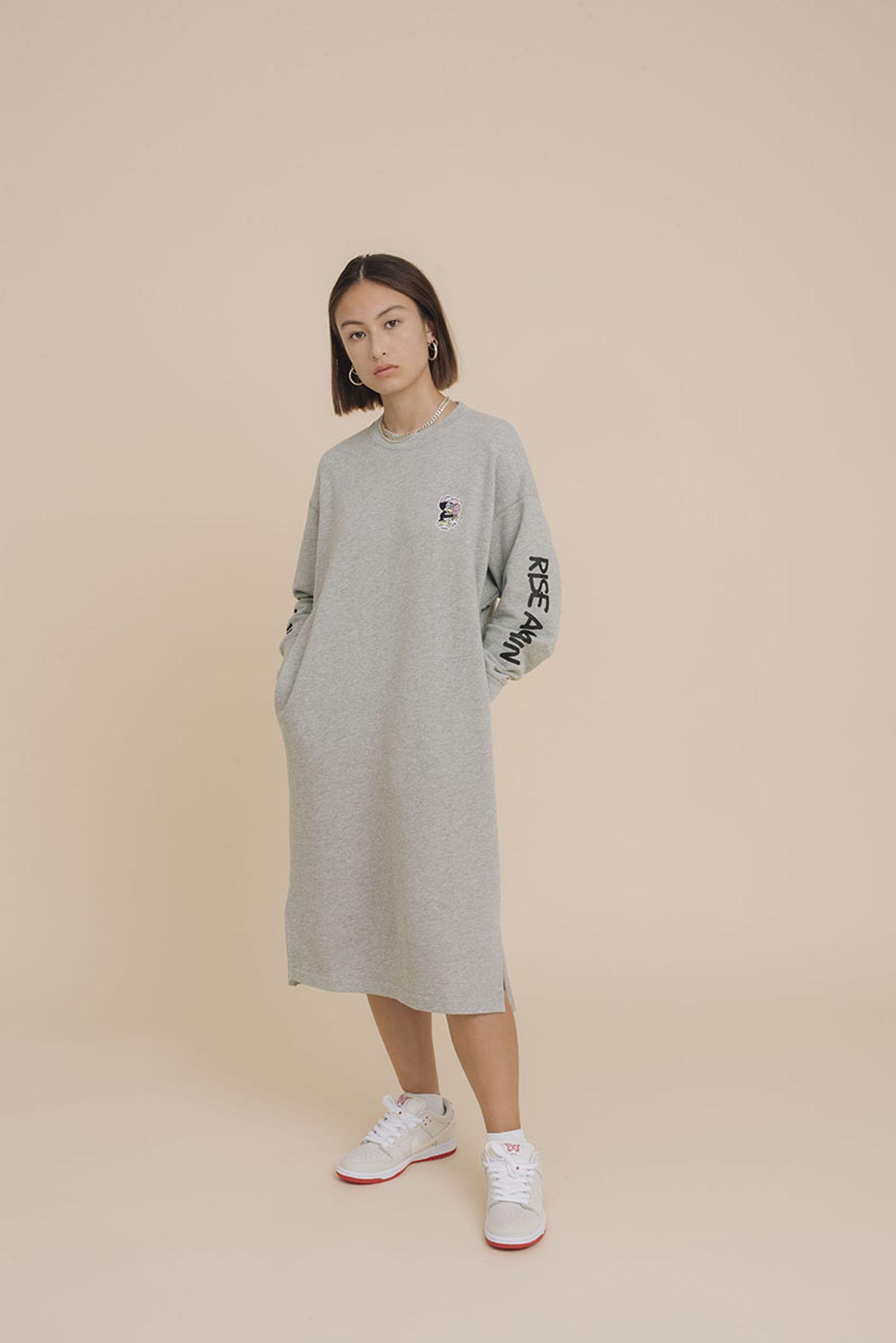 Uniqlo Verdy FW19 grey dress