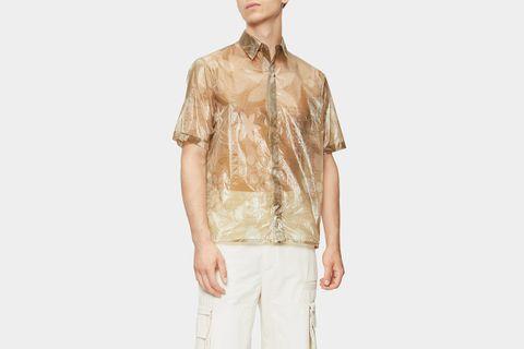 Floral-Print Organza Shirt