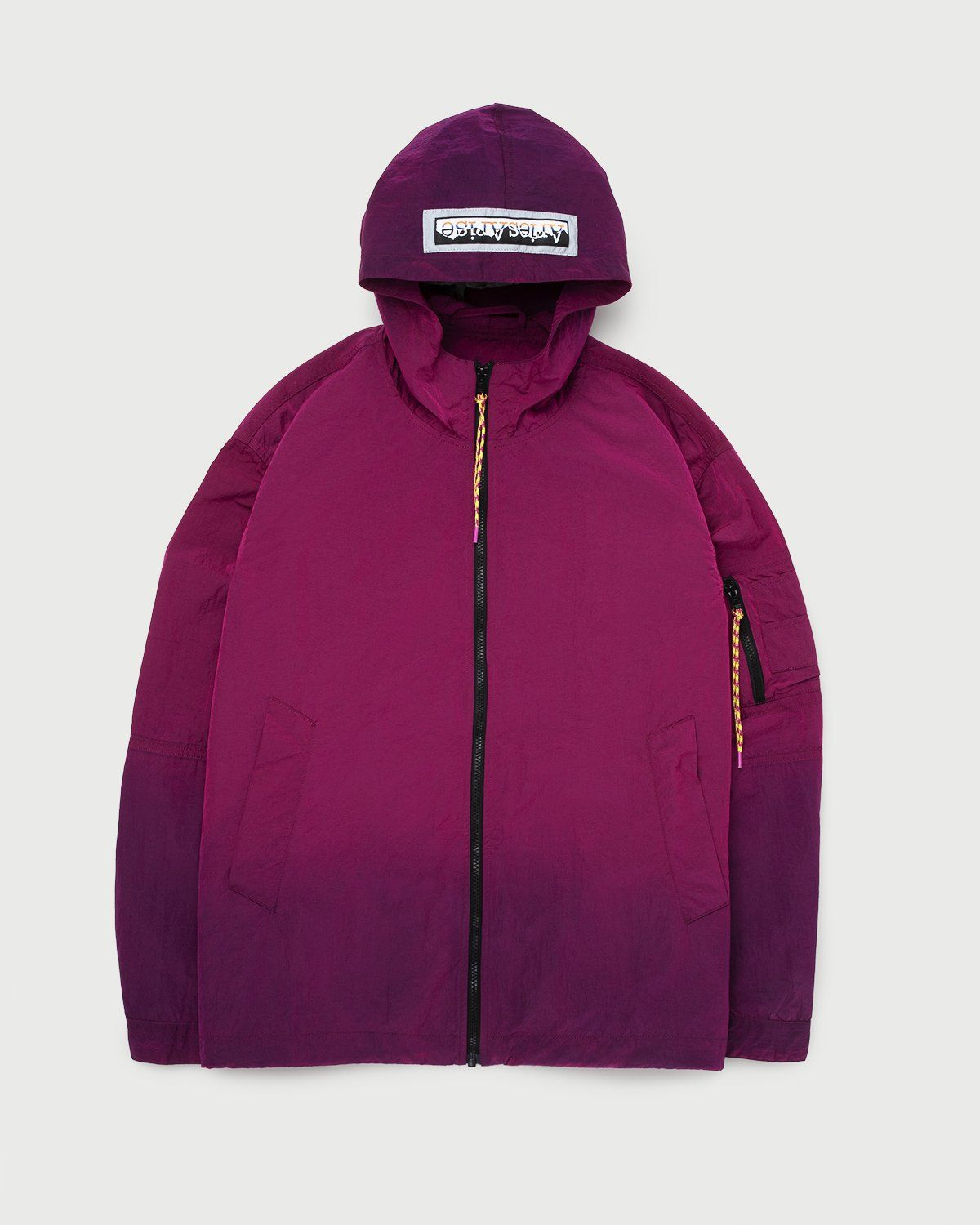 Aries — Ombre Dyed Tech Jacket Fuchsia - Image 1