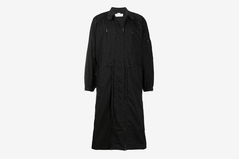 Drawstring Double-Zip Coat
