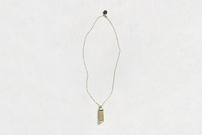 14K Gold Skateboard Necklace