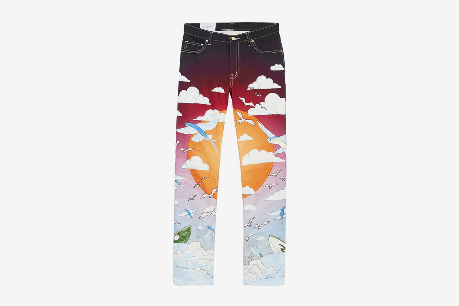 Speed Boat Club Printed Jeans