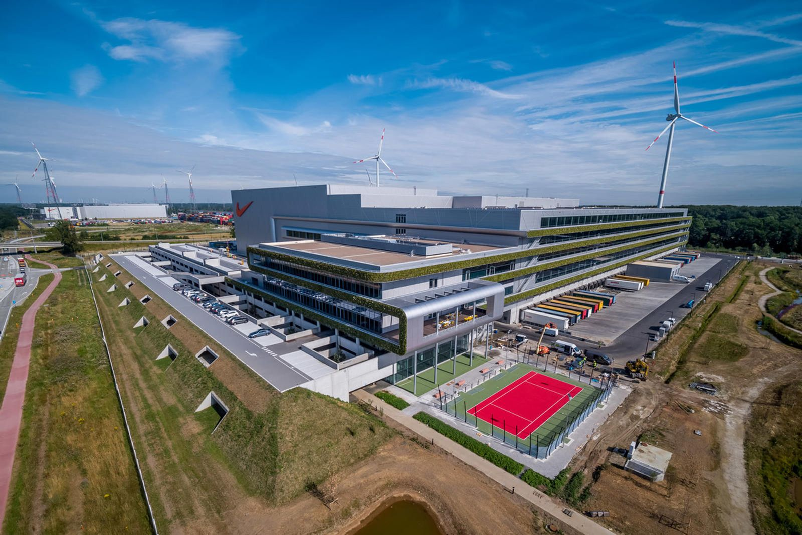 nike renewable energy center sustainability