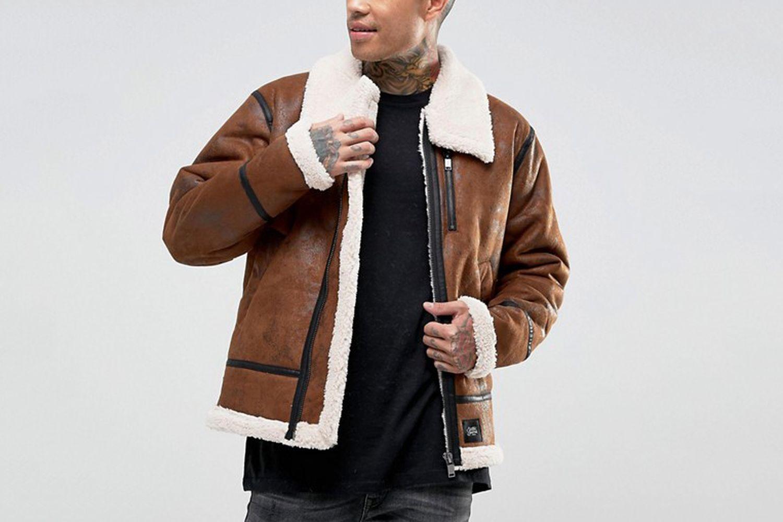 Faux Shearling Oversized Jacket