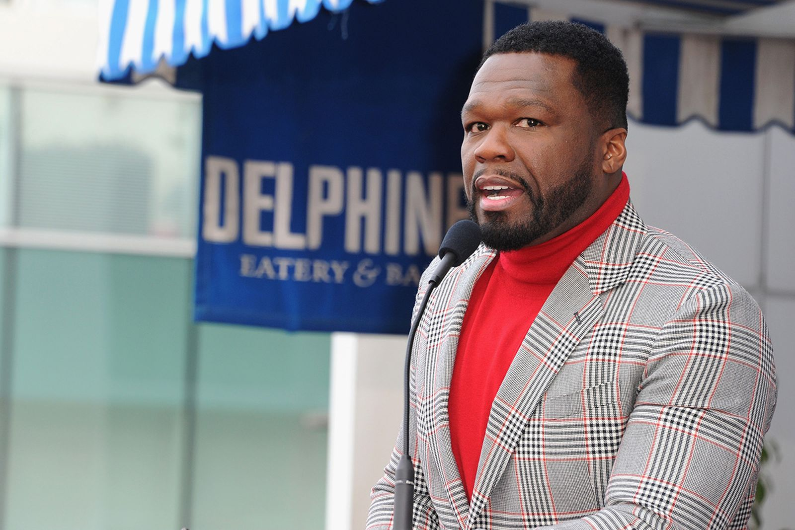 "Curtis ""50 Cent"" Jackson attends a ceremony honoring him with a star on the Hollywood Walk of Fame"