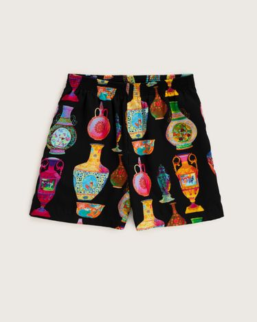 Versace Shorts Black-Multicolour