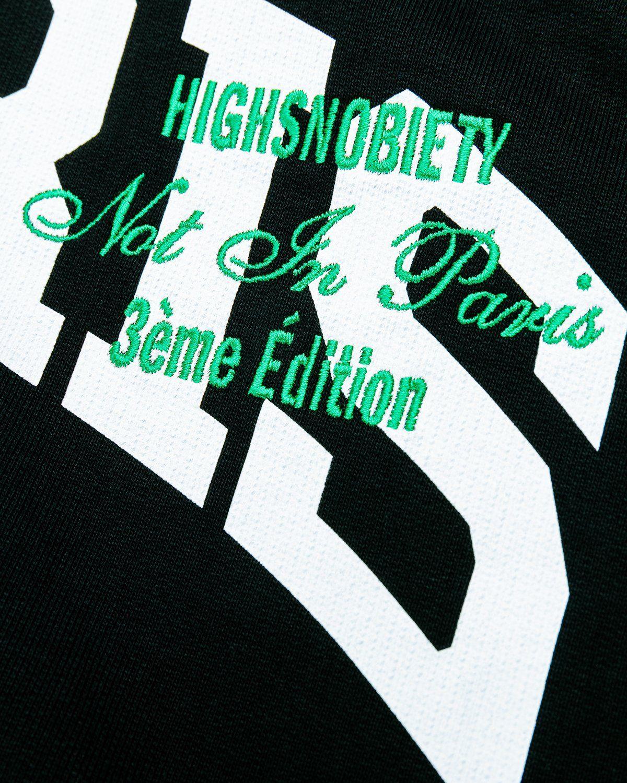 Highsnobiety — Not in Paris 3 Logo Hoodie Black - Image 3