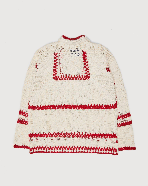 BODE — Mockneck Crochet Pullover White Red - Image 2