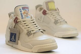 new styles 41a44 d1677 Level Up in These Game Boy-Themed Air Jordan IVs