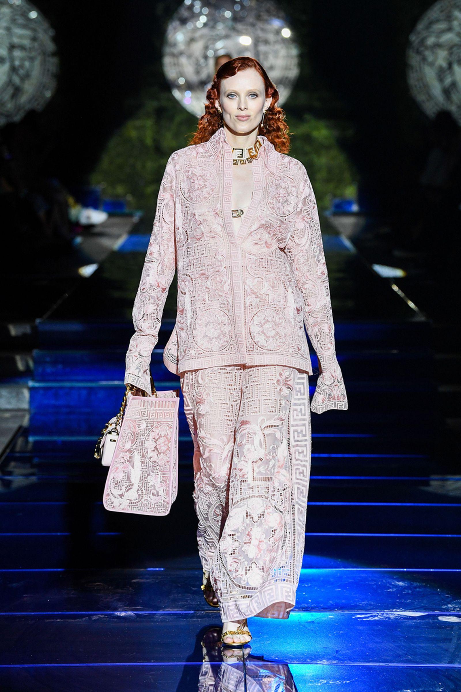 fendi versace fendace collab kim jones donatella swap collection watch lookbook runway milan
