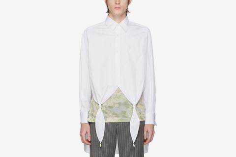 White Knotted Pearl Shirt