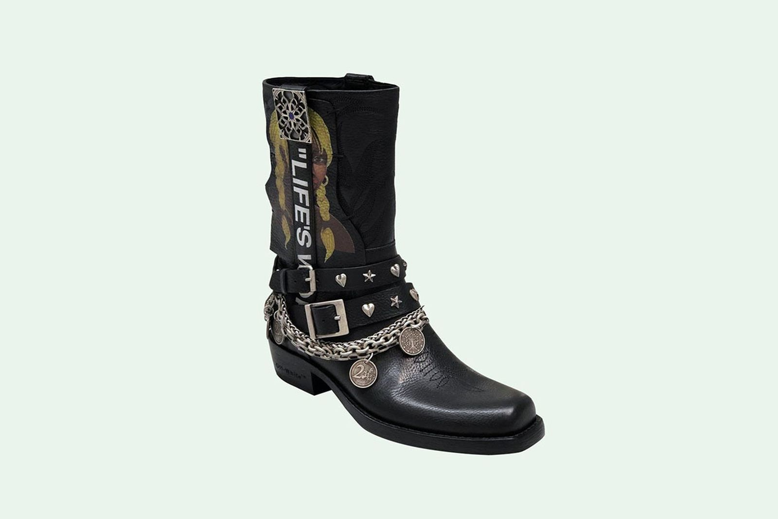 Theophilus London x Off-White black leather boots