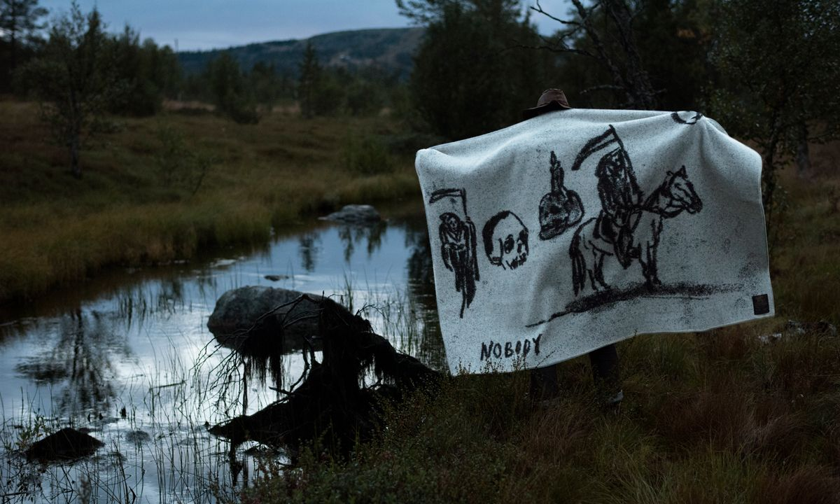 This Wes Lang-Designed Blanket Combines Fear & Comfort in One Design