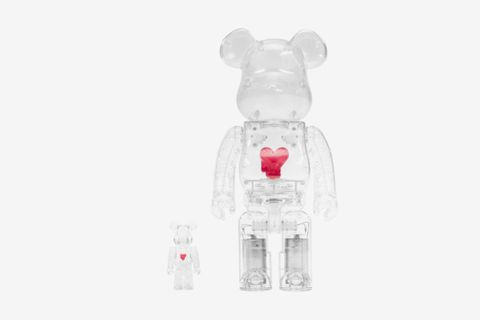 Bearbrick Emotionally Unavailable Heart 100% & 400% Set