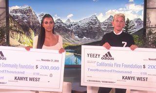 Kanye West, Kim Kardashian & adidas Donate $500,000 to California Wildfire Relief