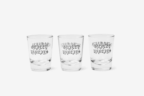 Set of Three Logo-Print Shot Glasses