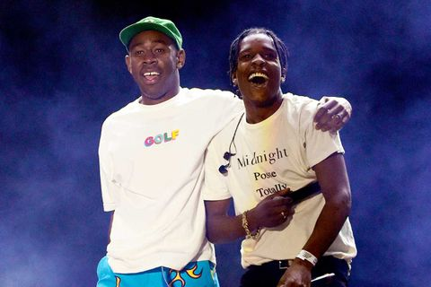 ASAP Rocky and Tyler the Creator on stage