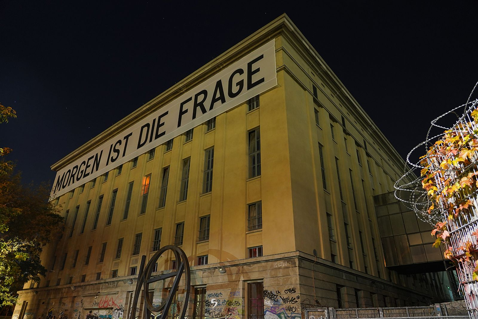berghain building at night