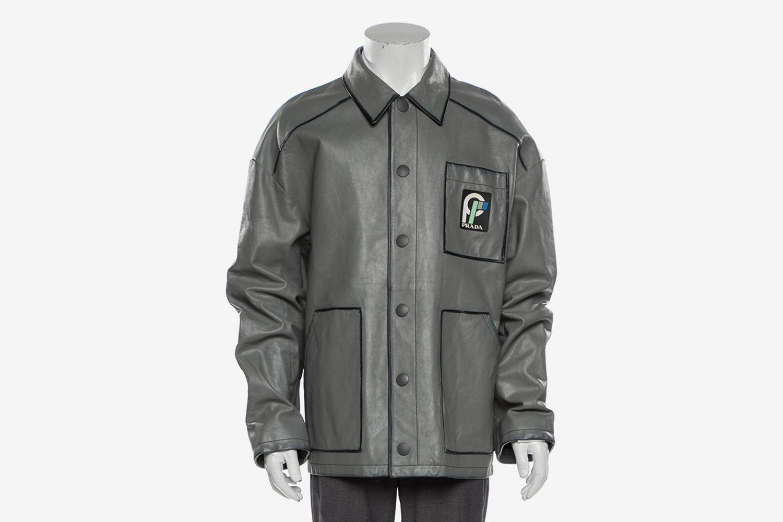 Calf Leather Utility Jacket