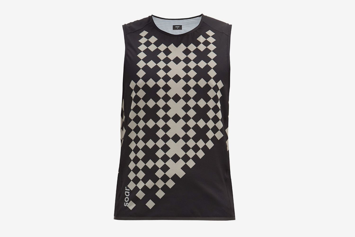 2.0 Diamond-Print Technical-Mesh Tank Top