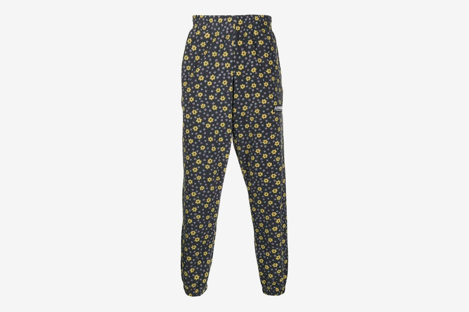 Floral Print Fleece Track Pants