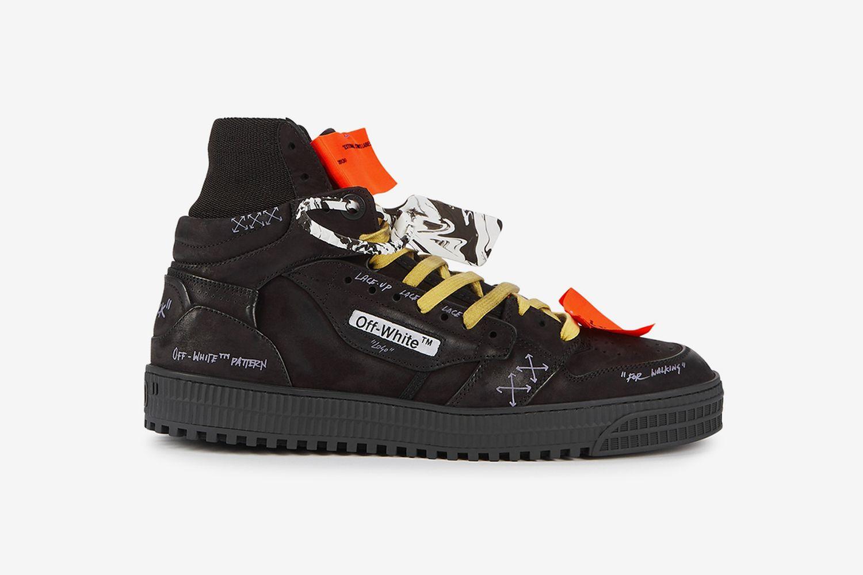 Off-Court Distressed Hi-Top Sneakers
