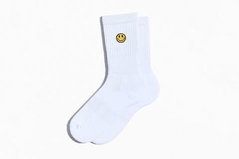 Smile Face Sport Crew Sock