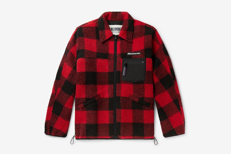 Checked Fleece Overshirt