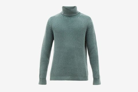 Pete Roll-Neck Ribbed Cashmere Sweater