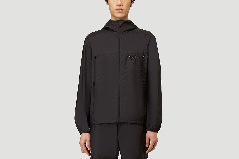 Nylon Zip-Up Jacket